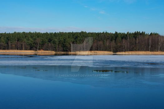 Blue Lake by TheCathArt