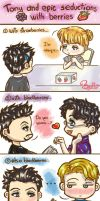 Tony and epic seductions with berries by byakko05