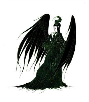 Maleficent's wings by CottonValent