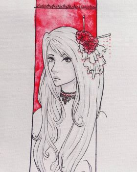 red roses by LiaraMii