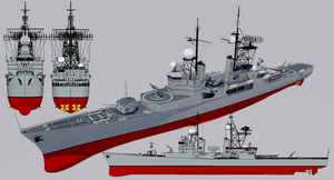 Justice-class Destroyer 1960 Refit by TheoComm