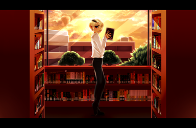 The Library by Kanimimi