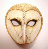 Barn Owl Leather Mask by Teonova by teonova