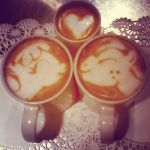 Valentines Day latte by CappuccinoFrosting