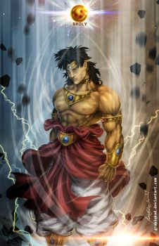 Dragon Ball Z- Broly by Grapiqkad