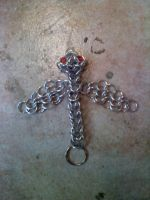 Chainmail Dragon keychain by Rictor-Omaga