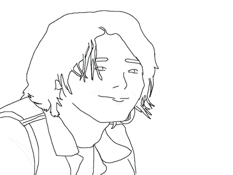 GerardWay-lineart by Flippygirls19