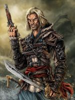 Captain Edward Kenway is your man - color by mkozmon