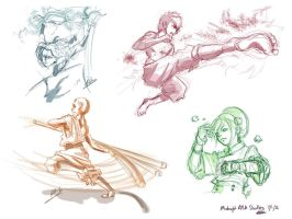 Avatar the Last Airbender: Character Sketches by JD-SPEEDbit