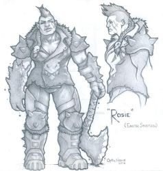Remnants of a Dead Sky - Rosie (Pencils) by theopticnerve