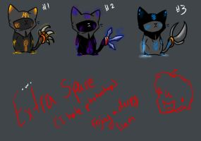 Hood Kitty Batch .:CLOSED:. by Skullz-adopts