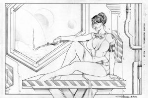 Celeste Pin-Up Further Along by James-LeMay-Graphix