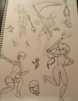 Fight pose doodles and others by AbsoluteNerd10099