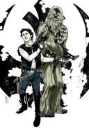 Han and Chewie by Hodges-Art