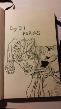 Inktober Day 21 furious by KenjiPuppetmaster