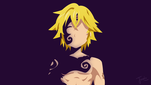 = Meliodas [DEMONFORM] Minimalist Design Wallpaper by Joosherino