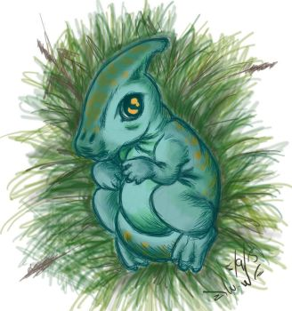 Baby Parasaur by WhiteWings89