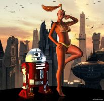Zabrak with R2 by deviant-clown