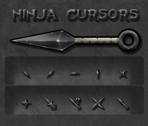 Ninja Cursor Set by HellHoundx666