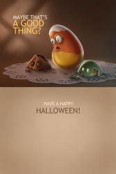 Halloween Card 2 of 2 (inside) by TheMaddhattR