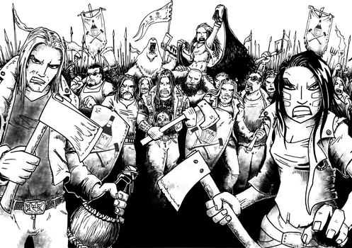 the Casera army on the march by Dado0016