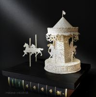 Carousel Book Sculpture by MalenaValcarcel