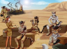 :Commission: The War Continues by Wastelands-Knight