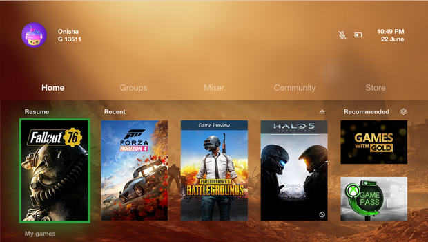 Fluent Xbox One Dashboard by OnishaX