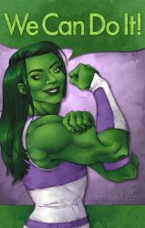She Hulk - We Can Do It! by littlecrow
