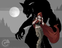 Cailyn and the Wolf by GarthFT