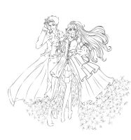 Lady Winter and Jack Frost WIP by Sakura-chan474
