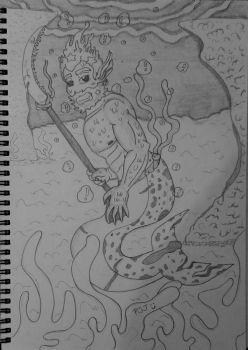 Mermay - Rich the Merman by PurpleSallyJay