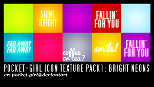 Pocket-Girl Icon Textures # 1 Bright Neons by pocket-girl
