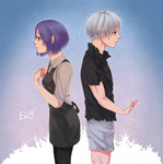 kaneki and touka by eggswithbenefits