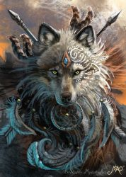 Wolf warrior by Sunima