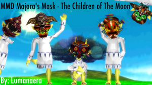 [MMD LOZ Majora's Mask] Children of The Moon +DL by Lumanaera