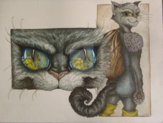 Puss in boots: watercolor version. by ChiaraLeo