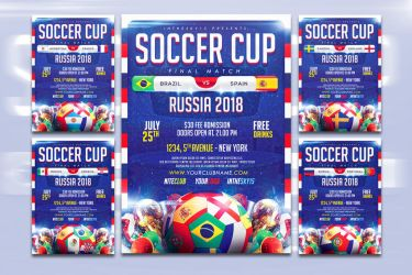 Soccer Cup Flyer Template by ranvx54