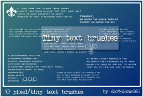 Tiny text brushes by darkdana666