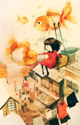Flying With the Goldfish by GiftLee