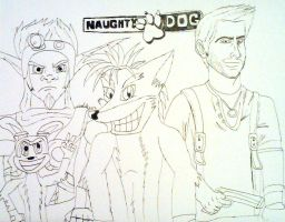 Naughty Dog heroes by JediBandicoot