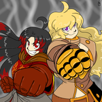 Commission: Zhi and Yang by MoeAlmighty
