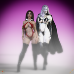 LQ and Aura: Lady Death and Vampirella by Lady-Quantum