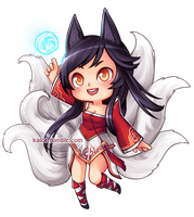 League of Legends: Ahri by Kalcedonyx
