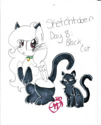 Sketchtober #8: Black Cat by CrystalizedFlames