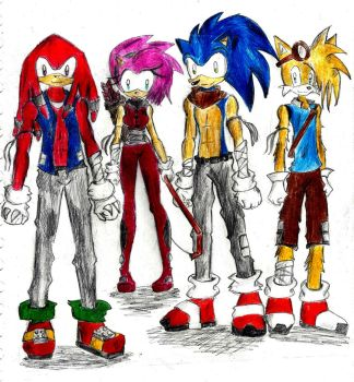 Sonic Character Concepts No.2. by Livvi1987