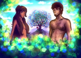 Adam and Eve by Madazu