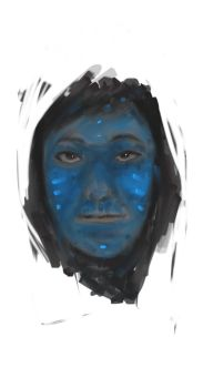 The Blue Man by tunogkulay