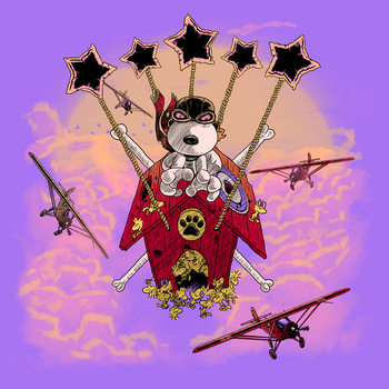 Snoopy VS the Red Baron by ArashiYuka