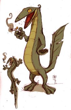 Mister Lizard Phantasticus by cougermiau